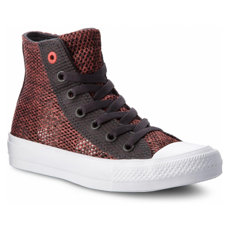 Plátěnky CONVERSE - Ctas II Hi 155729C Almost Black/Ultra Red/White