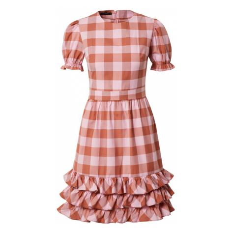 Trendyol Šaty růžová / starorůžová / červená