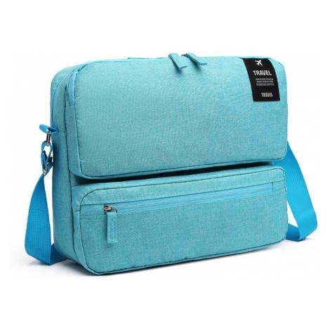 Světle modrá malá cestovní taška přes rameno Akshi Kono