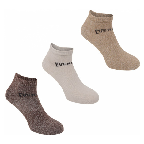 Everlast 3 Pack Trainer Socks Mens Pánské ponožky 3 páry 41130705