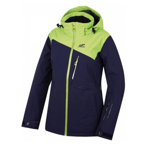 HANNAH Wayne Dámská lyžařská bunda 216HH0065HJ03 Peacoat/lime green