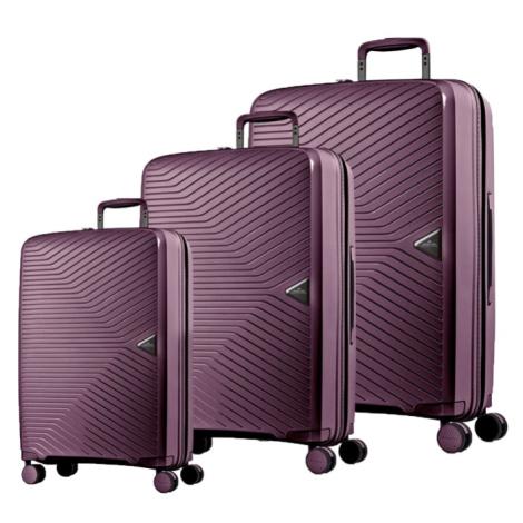 March Sada cestovních kufrů Gotthard S + M + L, fialová
