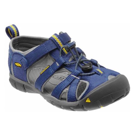 KEEN Seacamp II CNX Jr Dětské sandály KEN1201064001 blue depths/gargoyle