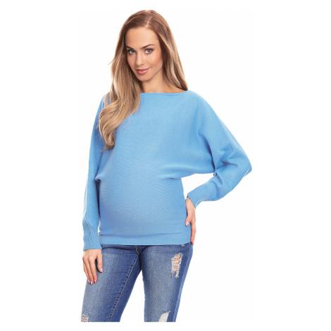 Modrý těhotenský pulovr 70003C PeeKaBoo