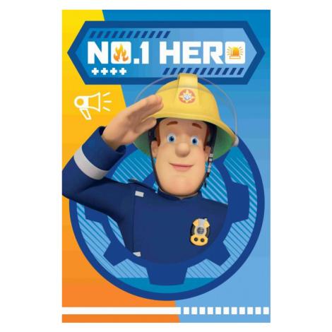 Dětská fleecová deka - Požárník Sam HERO 028 | dle fotky