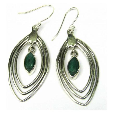 AutorskeSperky.com - Stříbrné naušnice se smaragdem - S4549