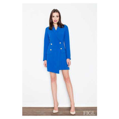 Dámský kabát M447 blue Figl