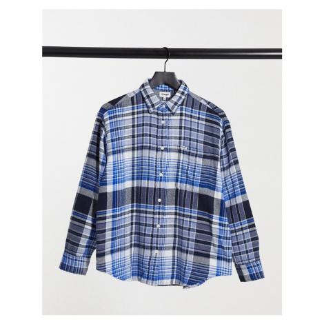 Wrangler oversized check flannel shirt in blue