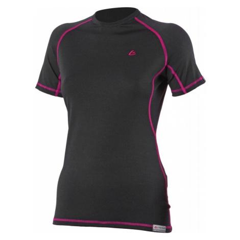 Dámské vlněné Merino triko ZITA 160g - černá/růžová Lasting