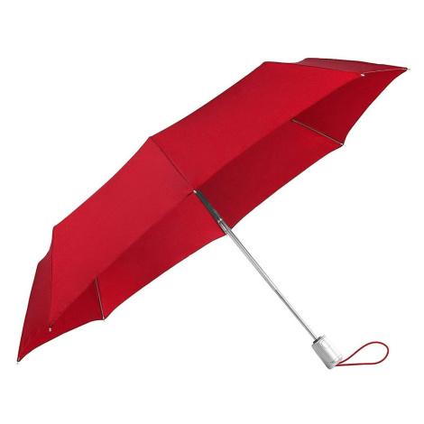 Samsonite Skládací automatický deštník Alu Drop S Safe 3 - červená