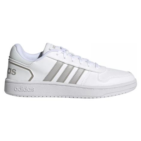 Dámská obuv adidas Hoops 2.0 Bílá / Stříbrná