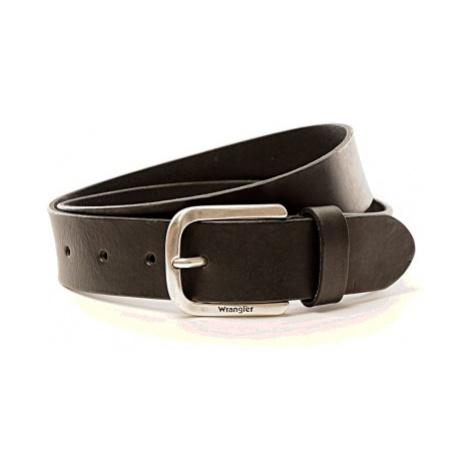 Kožený opasek Wrangler Easy Belt černý