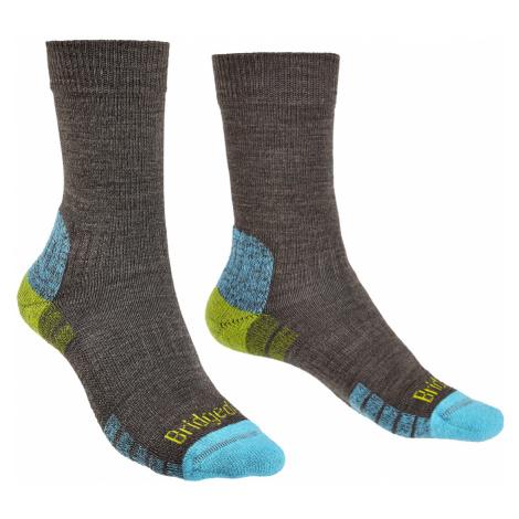 Dámské turistické ponožky Bridgedale Hike LW Merino Performance Black - Purple