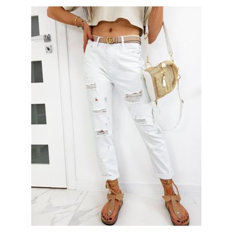 Women's jeans Mom Fit ELMARO white UY0479 DStreet