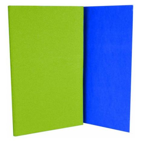 Karimatka skládací s folií - zeleno-modrá Sedco