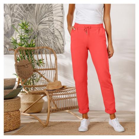 Blancheporte Meltonové kalhoty korálová