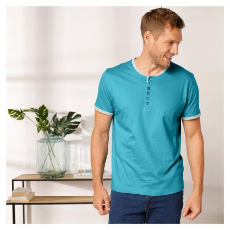Blancheporte Jednobarevné tuniské tričko tyrkysová