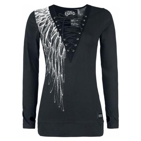 Vixxsin Top Shadow Angel dívcí triko s dlouhými rukávy černá
