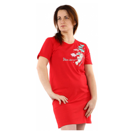 Bavlněná dámská noční košile s potiskem