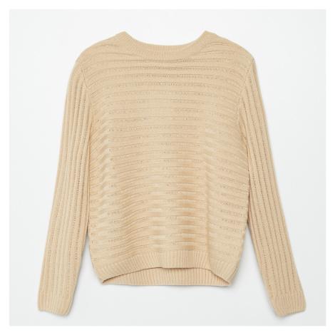 Cropp - Proužkovaný svetr - Béžová