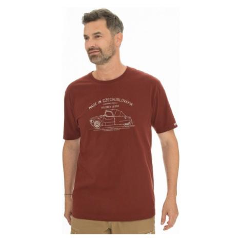 Pánské tričko BUSHMAN BOBSTOCK II vínová