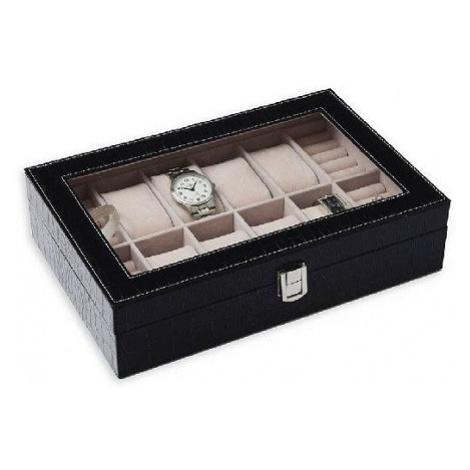 JK BOX SP-938/A25, Kazeta na hodinky hnědo-černá JKbox