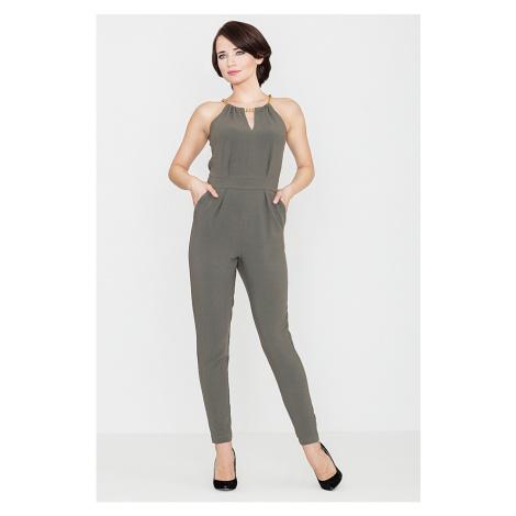 Lenitif Woman's Jumpsuit K338 Olive