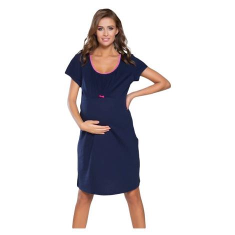 Těhotenská noční košile Dagna 2 růžový lem Italian Fashion