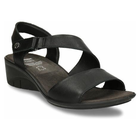 Černé kožené dámské sandály Baťa