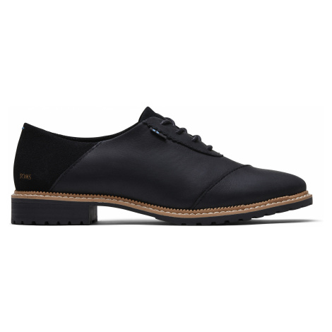 Black Leather/Suede Women Ainsley Toms