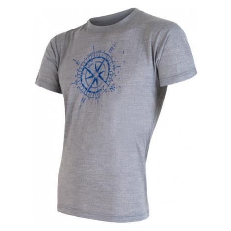 Pánské tričko SENSOR Merino Active PT Compass šedá