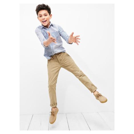 GAP béžové chlapecké kalhoty
