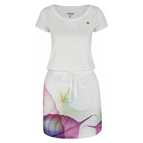 LOAP ALYSA Dámské sportovní šaty CLW2064A14K bílá/fialová