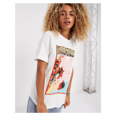 Bershka vintage graphic t-shirt in white