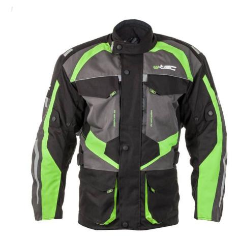 Pánská moto bunda W-TEC Burdys GS-1613 Barva černo-šedo-zelená
