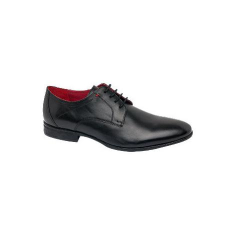 Černá kožená společenská obuv Claudio Conti