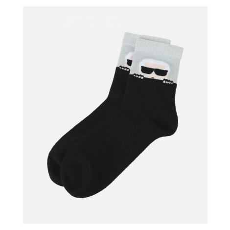 Ponožky Karl Lagerfeld K/Ikonik Socks - Černá