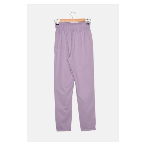 Trendyol Lilac Double Leg Straight Slim Knitted Sweatpants