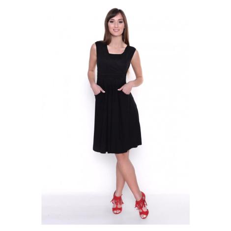 Šaty kryjící dekolt barva černá Oxyd