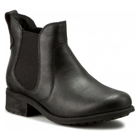 Kotníková obuv s elastickým prvkem UGG - W Bonham 1013893 W/Blk
