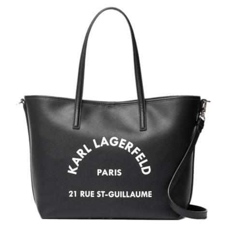 Černá kožená taška - KARL LAGERFELD