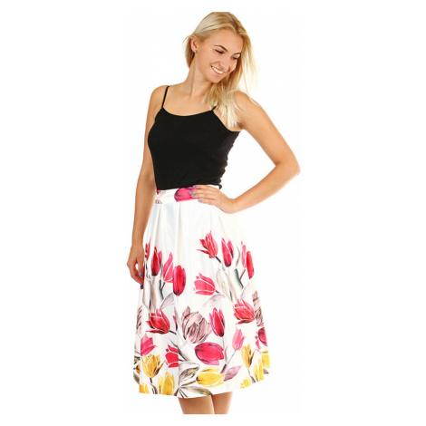 Dámská áčková květovaná sukně