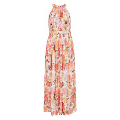 VILA Společenské šaty 'Hibiscus' bílá / mix barev