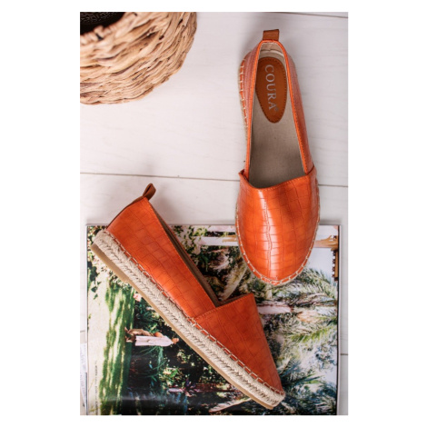 Oranžové espadrilly Deane Belle Women