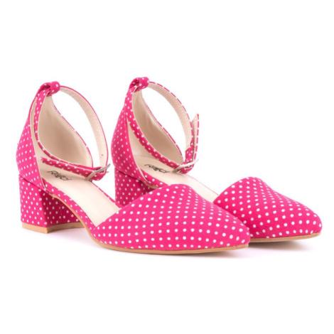 Puntíkované růžové dámské lodičky Vennie