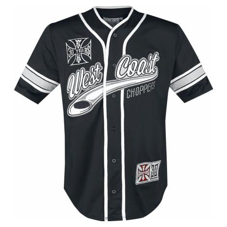 West Coast Choppers Baseballový dres 30 Years Anniversary Limited baseball jersey cerná/bílá