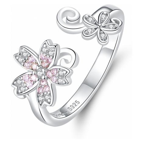 OLIVIE Stříbrný prsten NĚŽNÝ KVĚT 4244