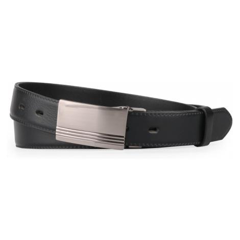 Penny Belts Pánský kožený opasek 30-020-2PS, černý - 110