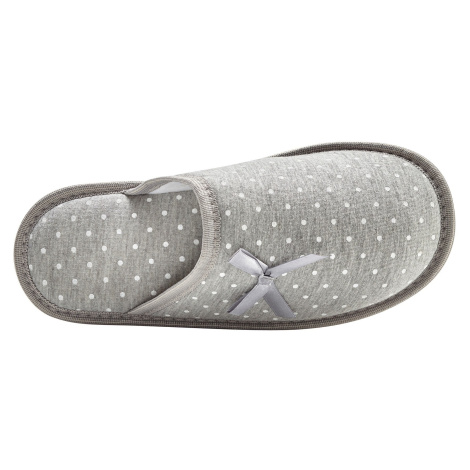 Blancheporte Puntíkaté pantofle světle šedá