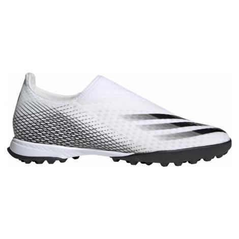 Kopačky adidas X Ghosted 3 Laceless TF Bílá / Černá